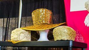 Gold Sequenced ladies hats.