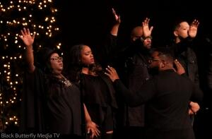 A Worship Christmas Choir singers.