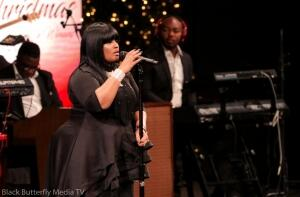 Michelle La'Vette Prather at 95.7 Hallelujah FM Worship Christmas 2017.