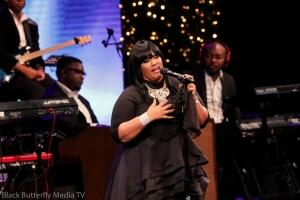 Michelle La'Vette Prather at 95.7 Hallelujah FM Worship Christmas 2017.#957Christmas — at Hope Church.