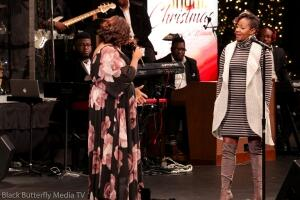 Tracy Bethea and Le'Andria Johnson at A Worship Christmas