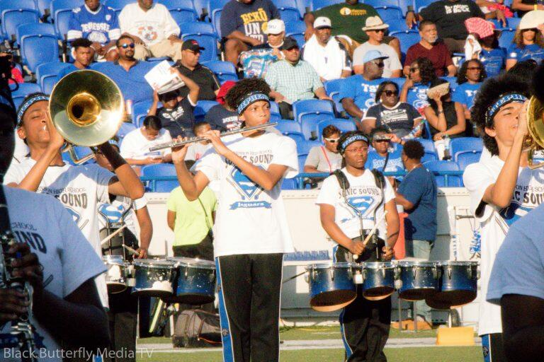Stephenson High School Sonic Sound performs at 30th Southern Heritage Classic.